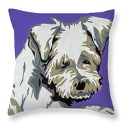 Terrier Mix Throw Pillow