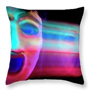 Terrified Throw Pillow