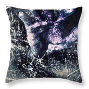 Terror From The Crypt Throw Pillow