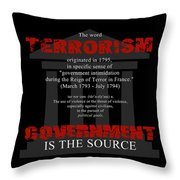 Terrorism Throw Pillow