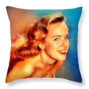 Terry Moore, Vintage Hollywood Actress Throw Pillow