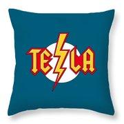 Tesla Bolt Throw Pillow