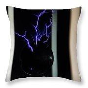 Tesla Coil 2 Throw Pillow