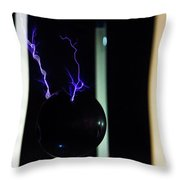 Tesla Coil 3 Throw Pillow