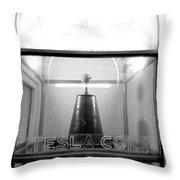 Tesla Coil Throw Pillow by Jera Sky