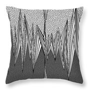 Tesla Coiled Throw Pillow