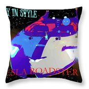 Tesla Roadster 10 Throw Pillow