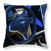 Tesla S85d Cockpit Throw Pillow