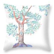 Tesselated Tree Throw Pillow
