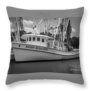 Moon Shadow Working Boat Throw Pillow