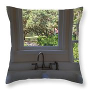 Window Over The Sink Throw Pillow