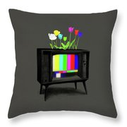 Test Garden Throw Pillow