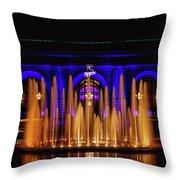 Fountain At Union Station Throw Pillow