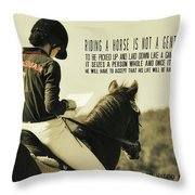Test Ready Quote Throw Pillow