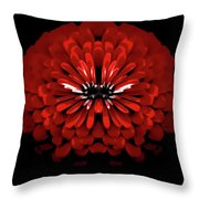 Test Red Abstract Flower 3 Throw Pillow