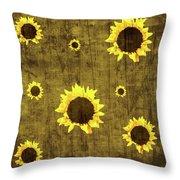 Test Rustic Sunflower Custom Throw Pillow