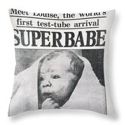 Test-tube Baby, 1978 Throw Pillow