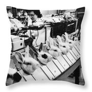 Tests On Animals, 1957 Throw Pillow