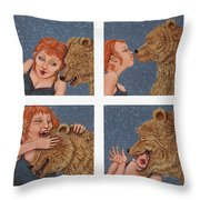 Tete A Tete Throw Pillow by Holly Wood