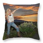 Tetom Sunset 1 Throw Pillow