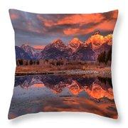 Teton 4 Throw Pillow