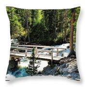 Teton Bridge Throw Pillow