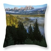Teton Morning Snake River Overlook Throw Pillow