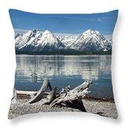 Teton Range Reflections Throw Pillow