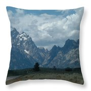 Teton Range Throw Pillow