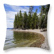 Teton Shore Throw Pillow