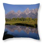 Teton Sunrise 2 Throw Pillow