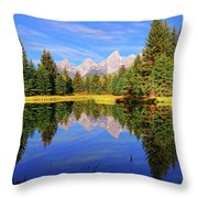 Teton Tranquility Throw Pillow