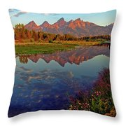 Teton Wildflowers Throw Pillow