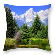 Tetons 3 Throw Pillow
