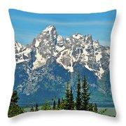 Tetons Across The Valley Throw Pillow