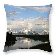 Tetons At Dawn Throw Pillow