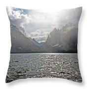 Tetons At Jenny Lake Throw Pillow