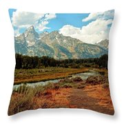 Tetons Grande 5 Throw Pillow