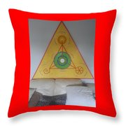 Tetrahedron From Wheat-shire Throw Pillow