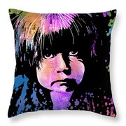 Tewa Child Throw Pillow