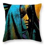 Tewa Girl Throw Pillow