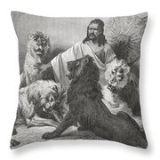 Tewodros Holding Audience, Surrounded Throw Pillow