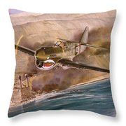 Tex Hill Over The Salween Gorge Throw Pillow