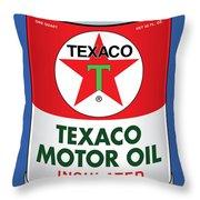 Texaco Can Throw Pillow