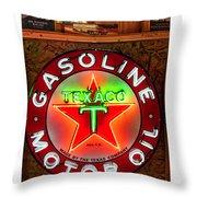 Texaco Gasoline Throw Pillow