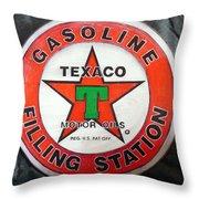 Texaco Sign Throw Pillow