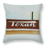 Texan Movie Theater Sign Throw Pillow