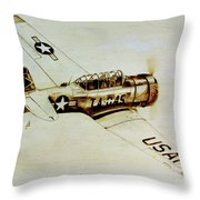 Texan T6 Throw Pillow