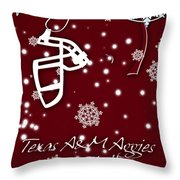 Texas Am Aggies Christmas Card Throw Pillow