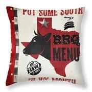 Texas Barbecue 4 Throw Pillow